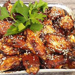 Soy and sesame chicken wings thumbnail