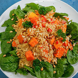 Couscous, pumpkin and spinach salad thumbnail