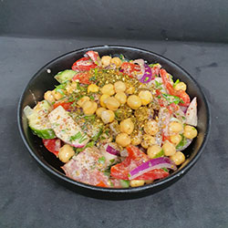 Chickpea salad bowl thumbnail
