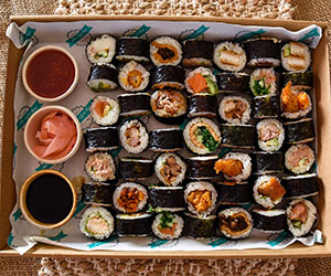 Assorted sushi thumbnail