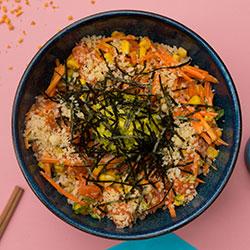 Sesame salmon poke bowl thumbnail