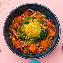 Shoyu salmon poke bowl thumbnail