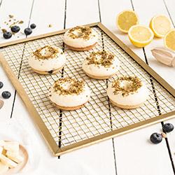 Blueberry lemon cheesecake donut thumbnail