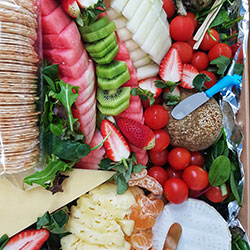Cheese and fresh fruit platter thumbnail
