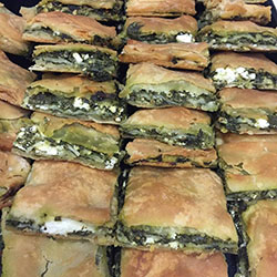 Greek Spanakopita triangles thumbnail