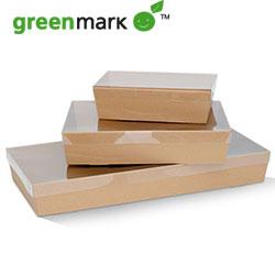 Brown catering tray - rectangular - 80 mm high thumbnail