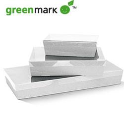 White catering tray - rectangular - 80 mm high thumbnail