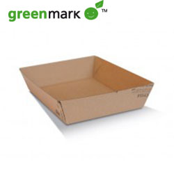 Brown Corrugated Kraft tray - plain thumbnail