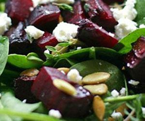 Baby spinach and feta salad thumbnail