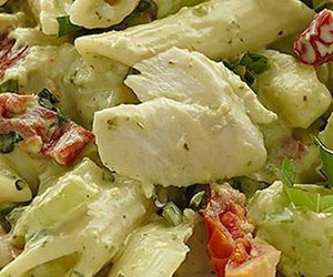 Chicken basil penne salad thumbnail