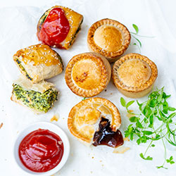 Pies and sausage rolls platter thumbnail