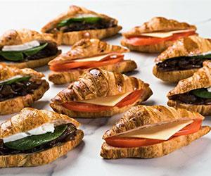 Vegetarian savoury croissant platter thumbnail