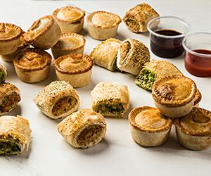 Vegan pies and rolls platter thumbnail