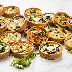 Vegetarian mini quiche platter thumbnail