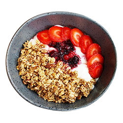 Vanilla yoghurt with fried granola - 8 oz thumbnail