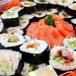 Large gourmet sushi and sashimi thumbnail
