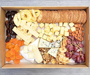 Gourmet cheese and dried fruit platter thumbnail