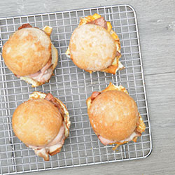 Traditional bacon and egg roll - mini thumbnail