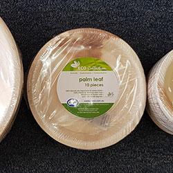 Round plates - Palm leaf thumbnail