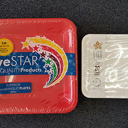 Square plates - Five Star Party Co thumbnail