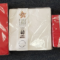 Lunch napkins - Five Star Party Co - 16.5cm thumbnail