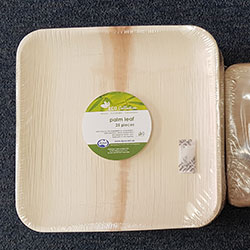 Square plates - Palm leaf thumbnail