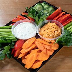 Dips and veggies platter thumbnail