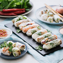 Standard rice paper rolls - serves up to 8 thumbnail