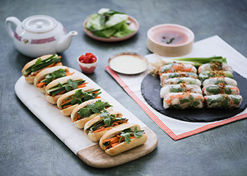 Mini rice paper rolls and baguettes - serves up to 8 thumbnail