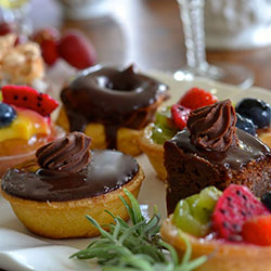 French pastries and fruit thumbnail