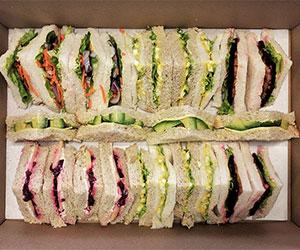 Vegetarian sandwich platter thumbnail