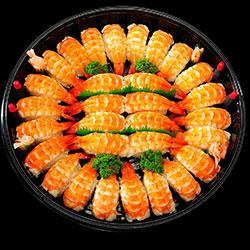 Ebi nigiri sushi platter - serves 5 to 6 thumbnail
