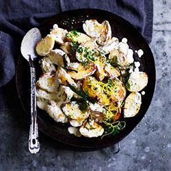 Sauteed chat potato salad thumbnail