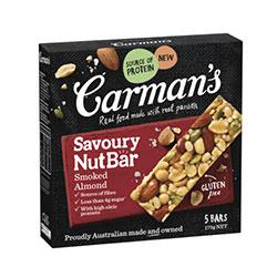 Carmans Kitchen - savoury smoked almond nut bar thumbnail