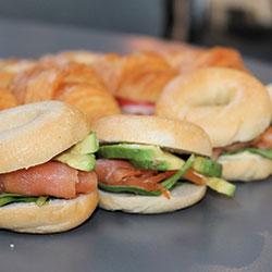 Salmon bagels - mini thumbnail