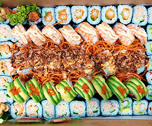 All cooked sushi platter thumbnail