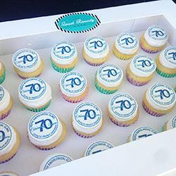 Branded cupcakes - mini thumbnail
