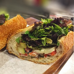 Char grilled Provençale vegetables baguette thumbnail