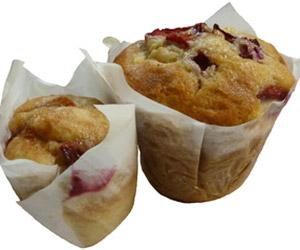 Apple and rhubarb muffin thumbnail