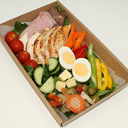 Cold meat and salad dinner plate thumbnail