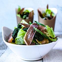 Crispy prosciutto and cos salad thumbnail