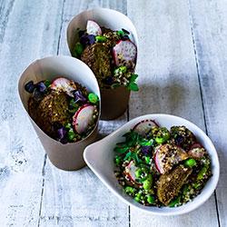 Falafel and quinoa salad thumbnail