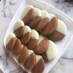 Black and white cookie thumbnail