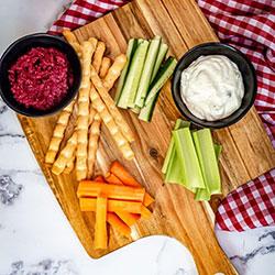 Veggie sticks with dip thumbnail