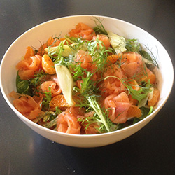Smoked salmon salad thumbnail