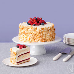 Summer berry jam and cream sponge thumbnail