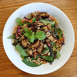Grilled vegan duck vermicelli noodle salad thumbnail