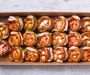 Filled savoury pretzels thumbnail