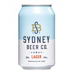 Sydney beer co lager cans - 330ml thumbnail