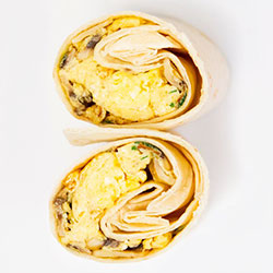 Vegetarian breakfast wrap thumbnail